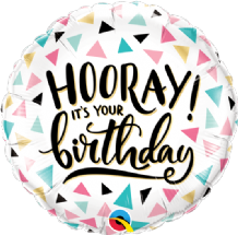 "Birthday Hooray Foil Balloon (18"") 1pc"